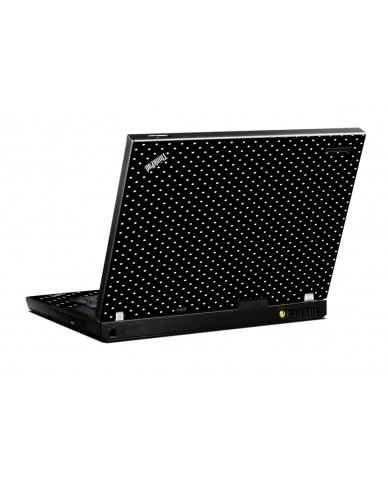 Black Polka Dots IBM T400 Laptop Skin