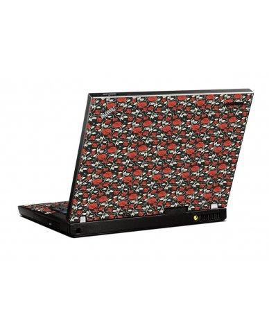 Black Red Roses IBM T400 Laptop Skin