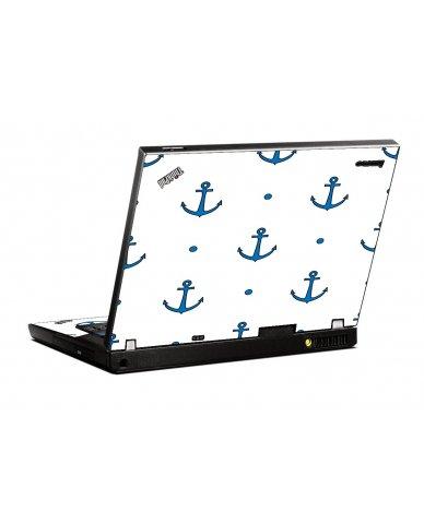 Blue Anchors IBM T400 Laptop Skin