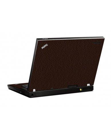 Brown Leather IBM T400 Laptop Skin