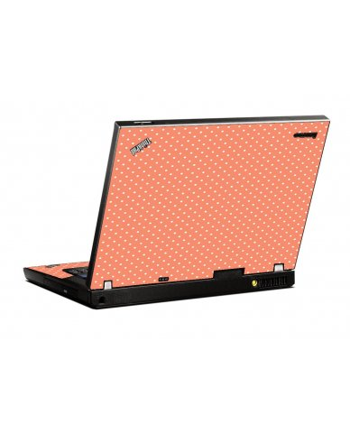 Coral Polka Dots IBM T400 Laptop Skin