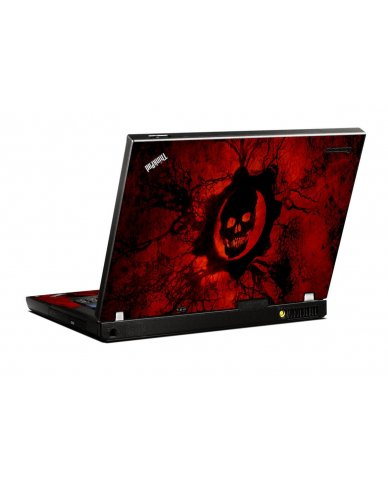 Dark Skull IBM T400 Laptop Skin