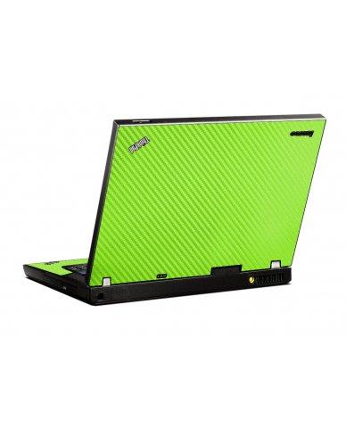Green Carbon Fiber IBM T400 Laptop Skin