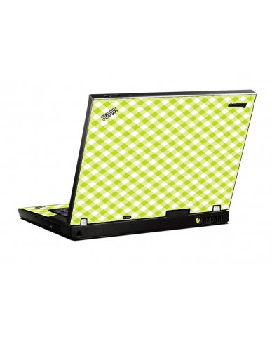 Green Checkered IBM T400 Laptop Skin