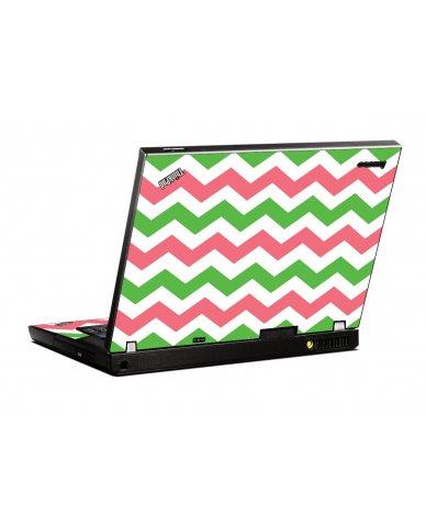 Green Pink Chevron IBM T400 Laptop Skin
