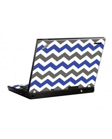 Grey Blue Chevron IBM T400 Laptop Skin