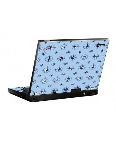 Nautical Blue IBM T400 Laptop Skin