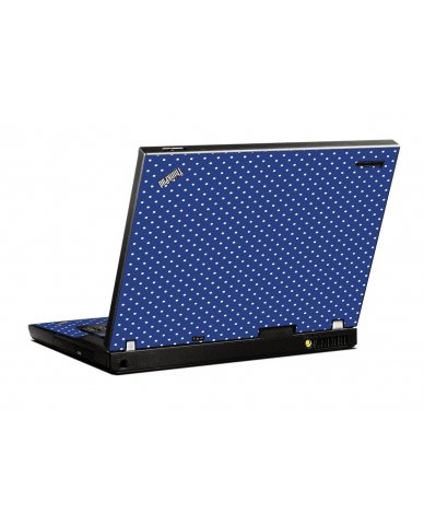 Navy Polka Dot IBM T400 Laptop Skin