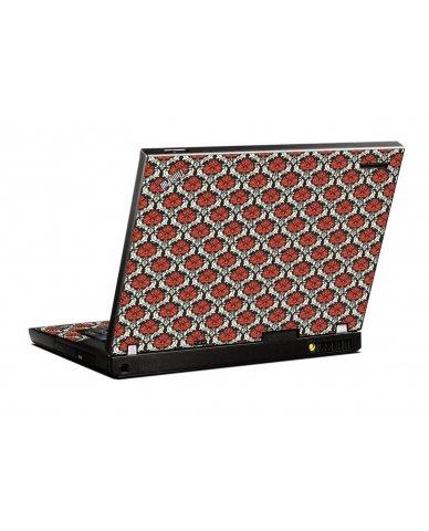 Red Black 5 IBM T400 Laptop Skin