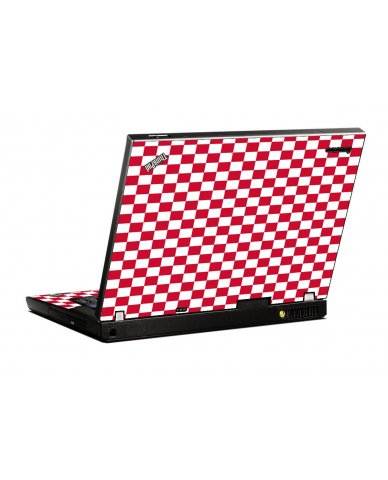 Red Checkered IBM T400 Laptop Skin