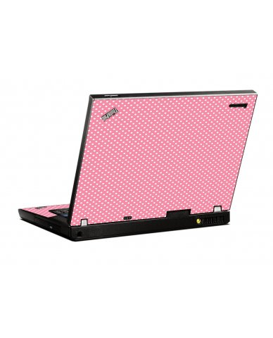 Retro Salmon Polka IBM T400 Laptop Skin