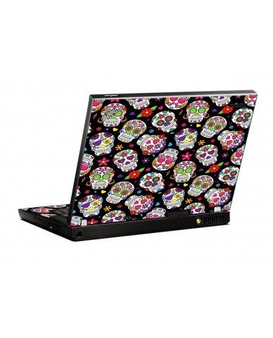 Sugar Skulls IBM T400 Laptop Skin