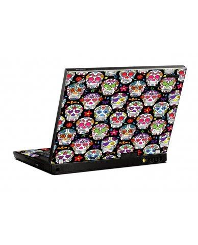 Sugar Skulls Seven IBM T400 Laptop Skin