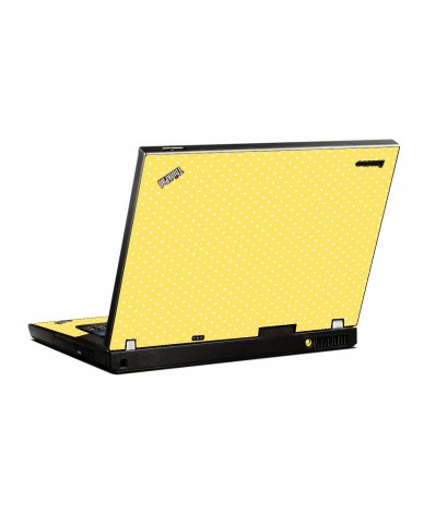 Yellow Polka Dot IBM T400 Laptop Skin