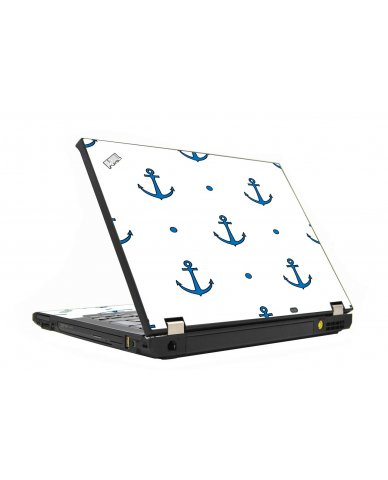 Blue Anchors IBM T410 Laptop Skin