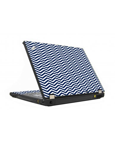 Blue Wavy Chevron IBM T410 Laptop Skin