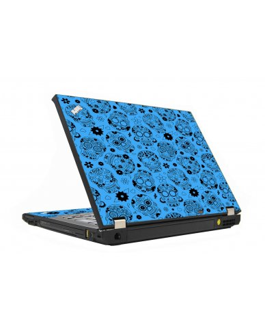 Crazy Blue Sugar Skulls IBM T410 Laptop Skin