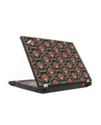 Flower Black Versailles IBM T410 Laptop Skin