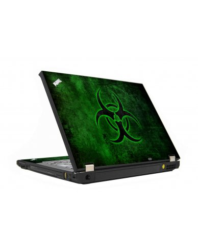 Green Biohazard IBM T410 Laptop Skin