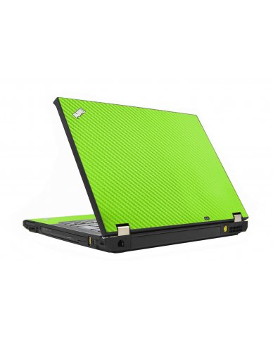 Green Carbon Fiber IBM T410 Laptop Skin