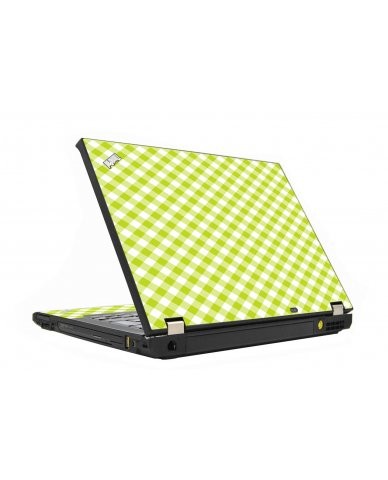 Green Checkered IBM T410 Laptop Skin