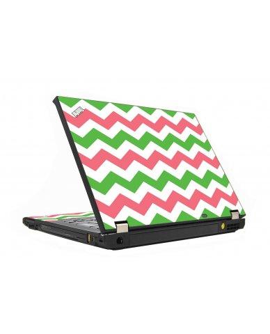 Green Pink Chevron IBM T410 Laptop Skin