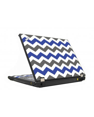 Grey Blue Chevron IBM T410 Laptop Skin