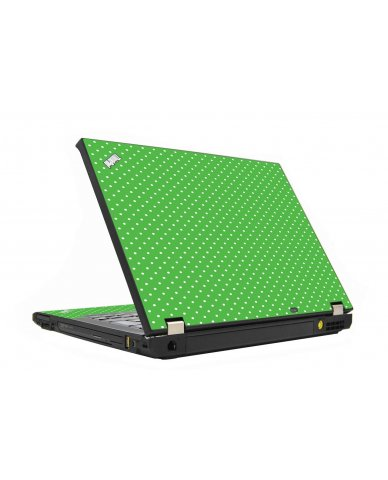 Kelly Green Polka IBM T410 Laptop Skin