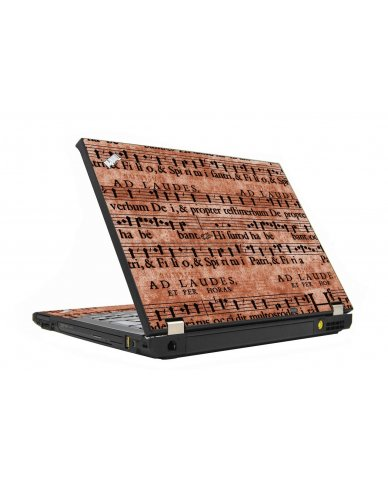 Latin Sheet Music IBM T410 Laptop Skin