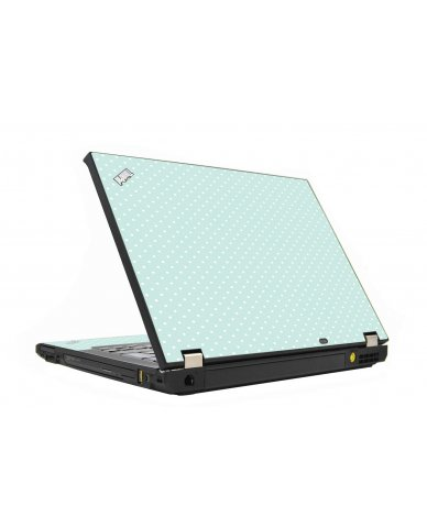 Light Blue Polka IBM T410 Laptop Skin