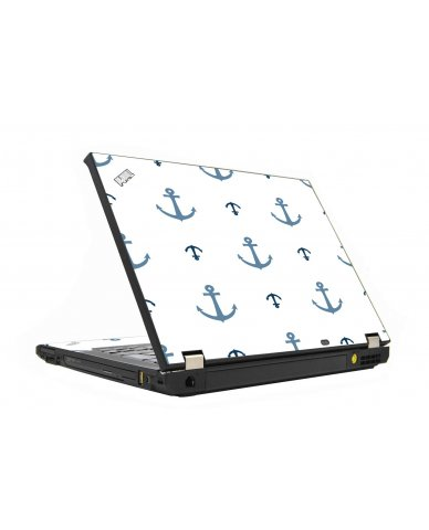 Multi Blue Anchors IBM T410 Laptop Skin
