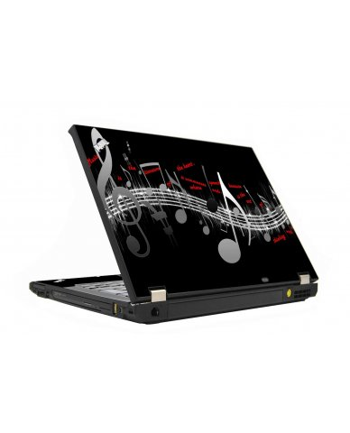Music Notes IBM T410 Laptop Skin