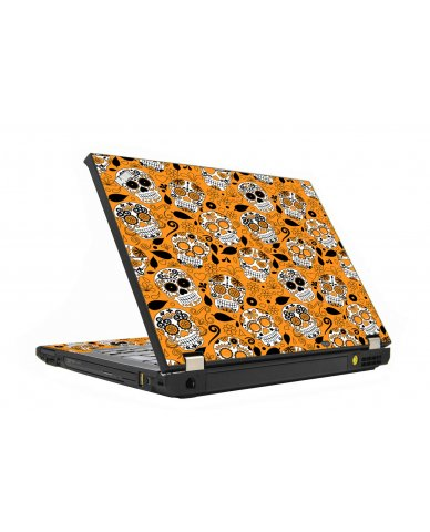Orange Sugar Skull IBM T410 Laptop  Skin