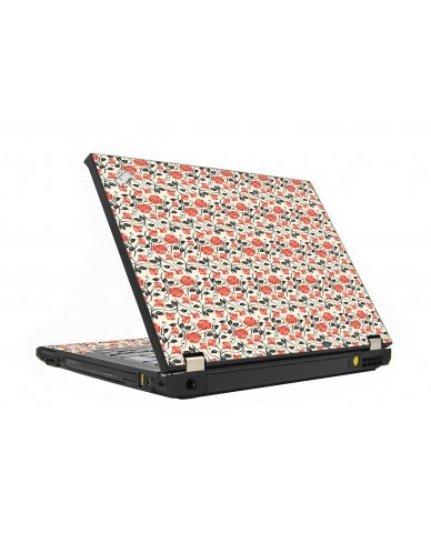 Pink Black Roses IBM T410 Laptop Skin