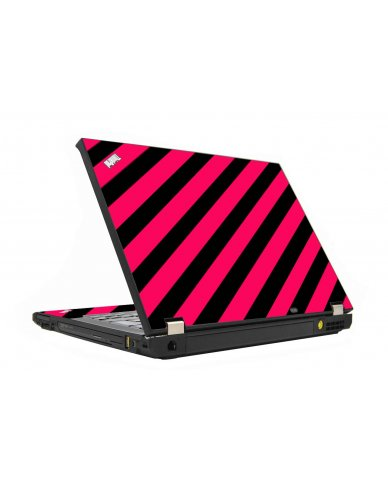 Pink Black Stripes IBM T410 Laptop Skin