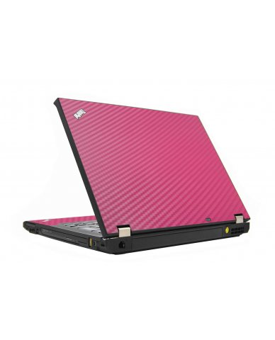 Pink Carbon Fiber IBM T410 Laptop Skin