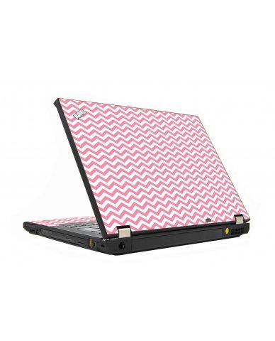 Pink Chevron Waves IBM T410 Laptop  Skin