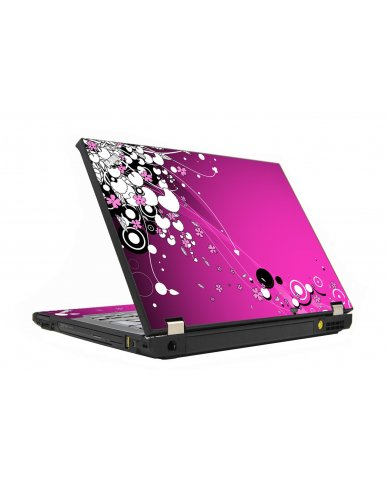 Pink Flowers IBM T410 Laptop Skin