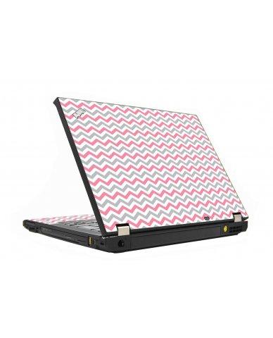 Pink Grey Chevron Waves IBM T410  Laptop Skin
