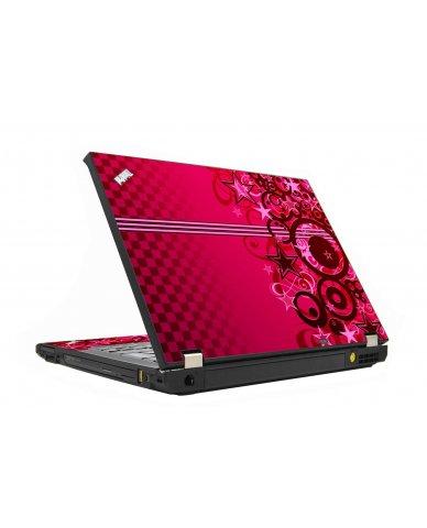Pink Grunge Stars IBM T410 Laptop Skin