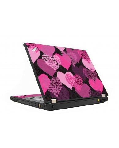 Pink Mosaic Hearts IBM T410 Laptop Skin