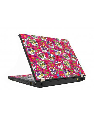 Pink Sugar Skulls IBM T410 Laptop Skin