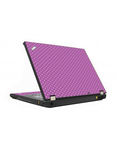 Purple Polka Dot IBM T410 Laptop Skin
