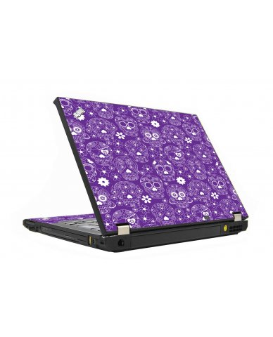 Purple Sugar Skulls IBM T410 Laptop  Skin