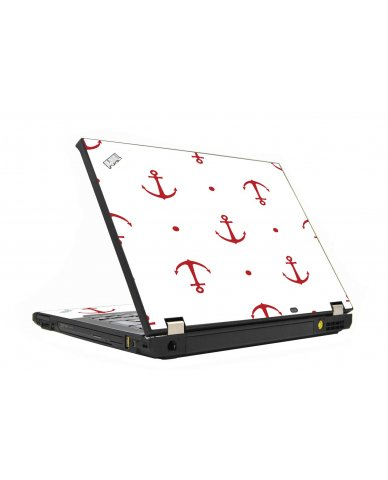 Red Anchor IBM T410 Laptop Skin