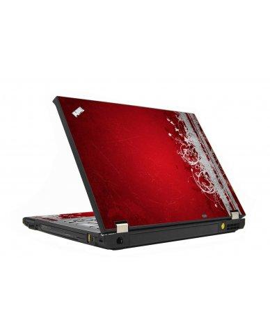 Red Grunge IBM T410 Laptop Skin
