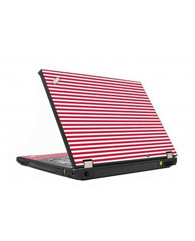 Red Stripes IBM T410 Laptop Skin