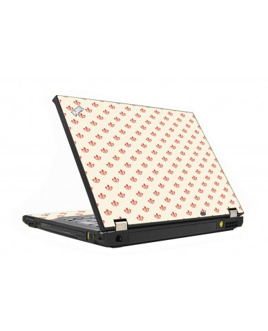 White And Pink Versailles IBM T410  Laptop Skin
