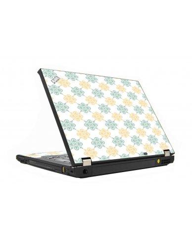 Yellow Green Flowers IBM T410 Laptop Skin