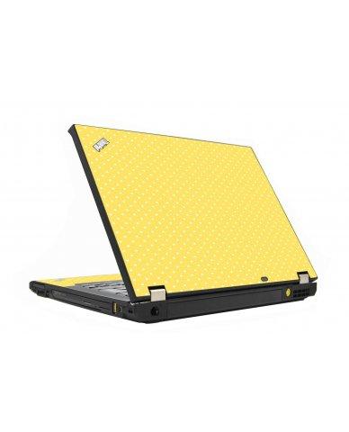 Yellow Polka Dot IBM T410 Laptop Skin